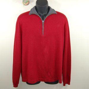 Banana Republic Silk Cashmere 1/4 Zip Sweater